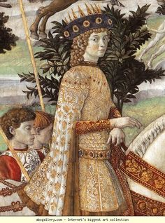 Benozzo Gozzoli. Procession of the Magus Balthazar. Detail. 1459-1461. Fresco. East wall of the chapel, Palazzo Medici-Riccardi, Florence, Italy
