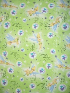 COUPON Code Sale  Tinkerbell Green Fabric by fabricalacarte