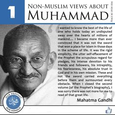 Islam: Non-Muslim views about Muhammad (saw)