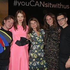 Designers Christopher Kane, Roksanda Ilincic and Erdem Moralioğlu toast the launch of The NET SET with @netaporter's Executive Chairman and Founder Natalie Massenet and President Alison Loehnis. Download @thenetset now from the Apple App Store #youCANsitwithus