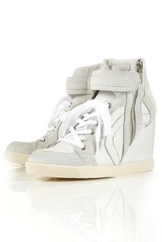 Topshop's affordable version of the Isabel Marant hightop wedge trainer. Does want!