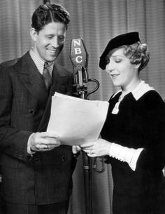 Rudy Vallee and Mary Pickford NBC Radio Broadcast