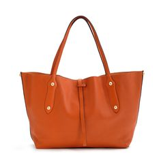 8530563ef34 Annabel Ingall Small Isabella Leather Tote Handbag Coral at Elements Chicago