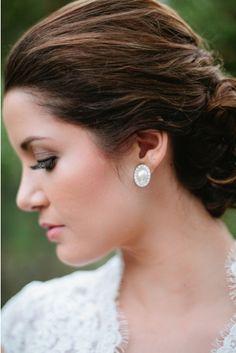 hair shelbyelese.blogspot.com @Signature Brides makeup airbrush lashes wedding updo