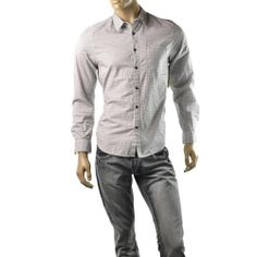 Guess Shirt Mens Chain Pattern Utility Pocket Button Up Shirts Size M NEW $69  | Get Dressed at http://ImageStudio714.com http://stores.ebay.com/ImageStudio714