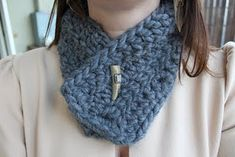 Crochet Neck Cuff / Scarflette Pattern ~ Mock trutleneck for those nippy outings... Great idea for left over yarn to match your garments or not ...