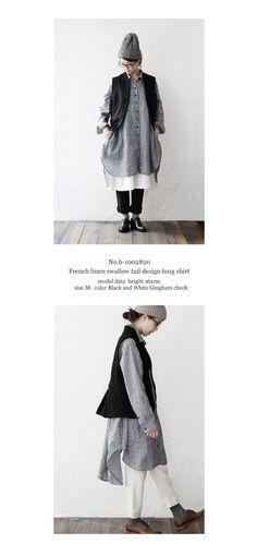 【楽天市場】【送料無料】joie de vivre フレンチリネンギンガムチェックスワローテイルデザインロングシャツ:BerryStyleベリースタイル