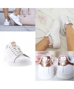 detailed look 615fe 57621 2017 Adidas Stan Smith Rose Gold Blanche Golden is definitely the style of  the atmosphere,