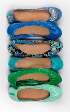 Tieks Flats in cool tones, yay Cute Shoes, Me Too Shoes, Tieks Ballet Flats, Looks Style, My Style, Pumps, Heels, Shoe Closet, Crazy Shoes