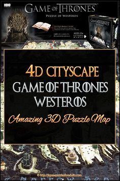 Cityscape Game of Thrones Westeros Puzzle is one amazing puzzle map!You'll love building this multi-layered puzzle map of Westeros in all it's Glory. Difficult Jigsaw Puzzles, 3d Puzzles, Game Of Thrones Westeros, Westeros Map, Game Of Thrones Fans, Hobbies For Couples, Cheap Hobbies, Hobbies That Make Money, Game Of Thrones
