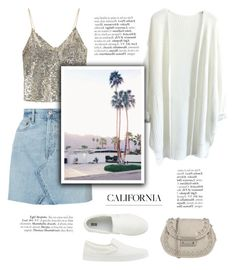 """Californian days"" by little-vogue ❤ liked on Polyvore featuring Alice + Olivia, RE/DONE, INDIE HAIR, Uniqlo, Chiara P, cool, polyvorecommunity and fashionset"