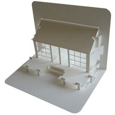 Japanese Tea House pop-up card, all proceeds go to those who made homeless by the tsunami in Japan