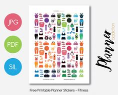 Free Printable Planner Stickers - Fitness & More