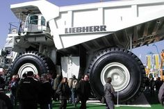 From the Pakistani decorated trucks to the sauna ones made in Russia, meet ten of the coolest trucks we've found. (cool trucks, Liebherr T Heavy Construction Equipment, Heavy Equipment, Construction Machines, Monster Bike, Monster Trucks, Cool Trucks, Big Trucks, Giant Truck, Dump Trucks For Sale