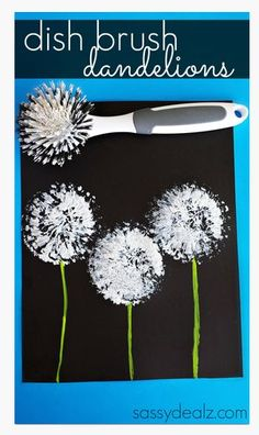 Summer Activity-a-Day for Kids Day #37: Dish Brush Dandelion Craft