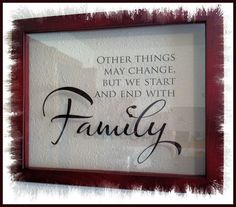 Floating Family Saying Picture Frame