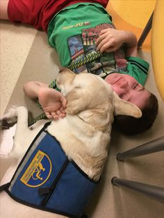 Anthony's service dog always knows when the hospital day is difficult. 2-1-17
