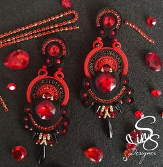 Soutache Earrings, Washer Necklace, Color Rosa, Top Maxi, Instagram, Jewelry, Beading, Soutache Jewelry, Silverware Jewelry