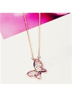 New Arrival Zircon Lovely Butterfly Shape Lady's Necklace: tidestore.com