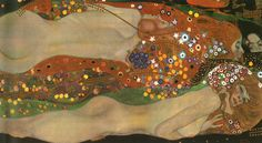 Discover the paintings of Gustav Klimt, the most important artist of the Jugenstils. you can order as well as art prints or hand painted paintings among hundreds of Klimt images. Art Nouveau, Auguste Rodin, Art Klimt, Art Occidental, Sea Serpent, Oil Painting Reproductions, Art Plastique, Dali, Oil On Canvas