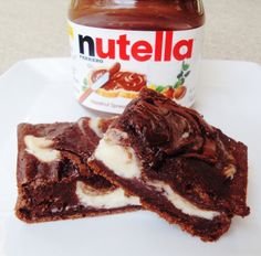 Nutella cheesecake brownies. Made from scratch and deeeeelicious!