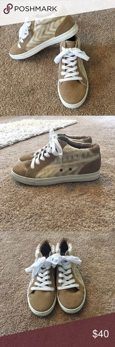Dolce Vita Sneakers Cute and comfy! Two words that would get anyone's attention! Not sure if they are considered high too but they do go right above the ankle! Perfect condition! Dolce Vita Shoes Sneakers