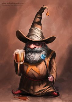 I like painting wizards! by SpikedMcGrath on DeviantArt