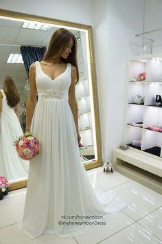 Nessa wedding dress empire wedding dress by myHoneymoonDress