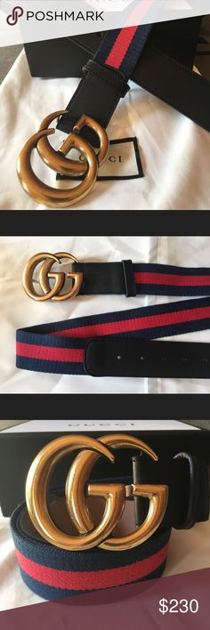 ff35a3bdf New Gucci belt Brand new with tags Double G gold buckle Black leather trim  Width Size 90 cm fits or Comes with tags, dust bag and box Gucci  Accessories ...