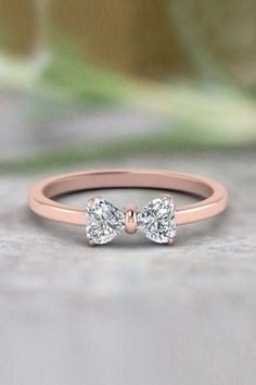 Heart Shaped Bow Anniversary Gifts with Diamonds in Rose Gold exclusively. - Future - 2 Heart Shaped Bow Anniversary Gifts with Diamonds in Rose Gold exclusively. Cute Jewelry, Jewelry Rings, Jewelery, Silver Jewelry, Jewelry Accessories, Jewelry Design, Designer Jewelry, Modern Jewelry, Turquoise Jewelry
