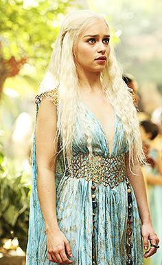 Emilia Clarke as Danaerys Targaryen in Game of Thrones - possibly my fav costume from S2---she is my favorite!!!