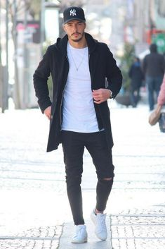 Herren-Mantel-Outfits – Daniel Mihalic – # For # Men … - Herrenmode Ideen Winter Outfits Men, Cool Summer Outfits, Stylish Mens Outfits, Casual Fall Outfits, Men Casual, Casual Wear, Cool Outfits For Men, Trendy Mens Fashion, Winter Clothes