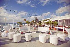 Outdoor destination wedding venue overlooking the ocean