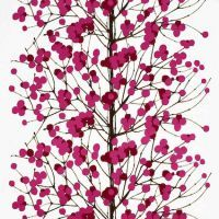 Marimekko Lumimarja White / Pink Fabric Branch out. Brown branches with plump pink berries evoke feelings of spring on the 2004 Lumimarja fabric by Marimekko designer Erja Hirvi. This nature-inspired design will give your home a fresh. Tree Patterns, Textile Patterns, Print Patterns, Floral Patterns, Color Patterns, Retro Fabric, Pink Fabric, Cotton Fabric, Modern Fabric