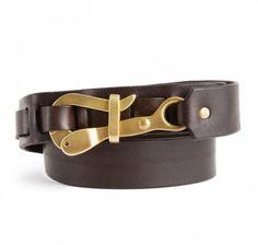 SIR JACK'S  Pelican Hook Belt in Brown Bull Leather