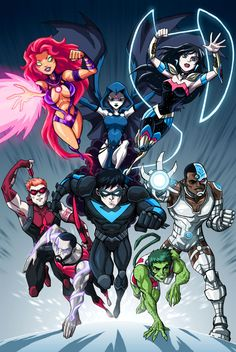 New Titans - Before New 52 by ~LucianoVecchio on deviantART