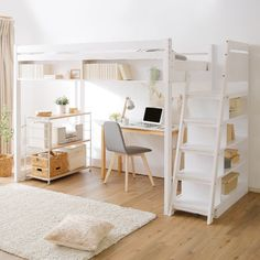 25 brilliant loft beds that make the most of your kid's or teenager's room 25 brillante Hochbetten, die das Zimmer Ihres Kindes oder Teenagers optimal nutzen – InspireandIdeas Loft Beds For Small Rooms, Loft Beds For Teens, Bed For Girls Room, Girl Room, Teen Loft Bedrooms, Girl Bedrooms, Cute Rooms For Girls, Small Bedroom Ideas For Teens, Dorm Room Designs