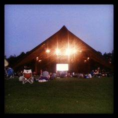 Picnic and take in a summer movie or concert! If you're up for it, I also recommend a roll down the hill.