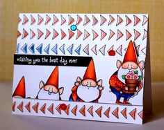 MFT Stamps, Copics, You Gnome Me, Birdie Brown, My Favorite Things, Wishing you the best day ever