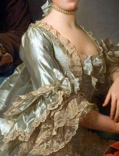 Marie Antoinette's Paris Marie Antoinette's Paris — lacedheartt: Rococo Detail. 18th Century Dress, 18th Century Fashion, 19th Century, Classic Paintings, Beautiful Paintings, Historical Costume, Historical Clothing, Marie Antoinette, Rococo Fashion