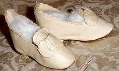 Ivory Color Leather Slippers for French Fashion (item #1279074) #dollshopsunited