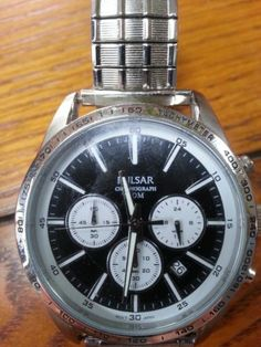Pulsar wristwatch with chronograph and 50m water resistance, model VD53