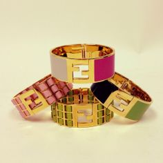 Beautiful new Fendi bracelets at Queen Bee of Beverly Hills http://www.queenbeeofbeverlyhills.com/