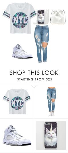 """Untitled #1102"" by august-baee on Polyvore featuring Aéropostale, NIKE, Sole Society, women's clothing, women, female, woman, misses and juniors"