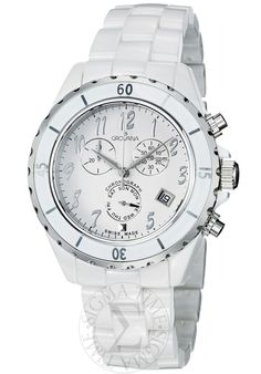 Special Offers Available Click Image Above: Grovana Womens White Dial White Ceramic Chronograph Quartz Watch Mechanical Watch, Casio Watch, Quartz Watch, Fashion Watches, White Ceramics, Chronograph, Swiss Watch, Flexibility, 1970s