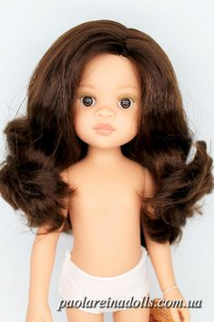 """14824 Paola Reina Las Amigas Michelle Nora-Carol with brown hair 13/"""" doll"""