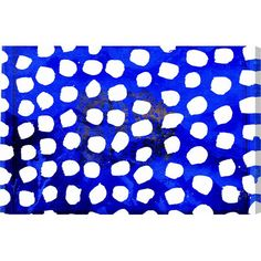 Add a pop of color to your master suite or den with this artful canvas print, showcasing a dot motif over a blue background.  Product...
