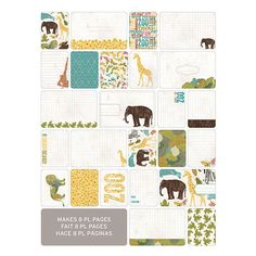 Lions and tigers and bears, oh my! Zoo memories will look so delightful when paired with the Project Life Zoo Themed Cards designed by Celeste Knight. Themed ca