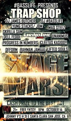 10/14 San Jose #RonDaVOODOO Tour-Grindtime Now-Trap Shop-Stage Wars ft. Rahman Jamaal, Maq Steez, Lifted Souls & more