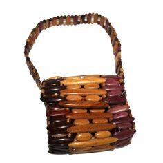 Handtasche aus echten Edelhölzern. 100% naturbelassen - aus nachhaltigem Plantagenanbau - handgefertigt!